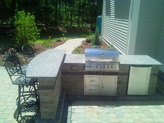 Create the Ultimate Outdoor Living Space Outdoor Kitchen with Bar by Bahler Brothers in CT