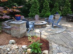 Create the Ultimate Outdoor Living Space Landscaping and Fire Pit by Bahler Brothers in CT