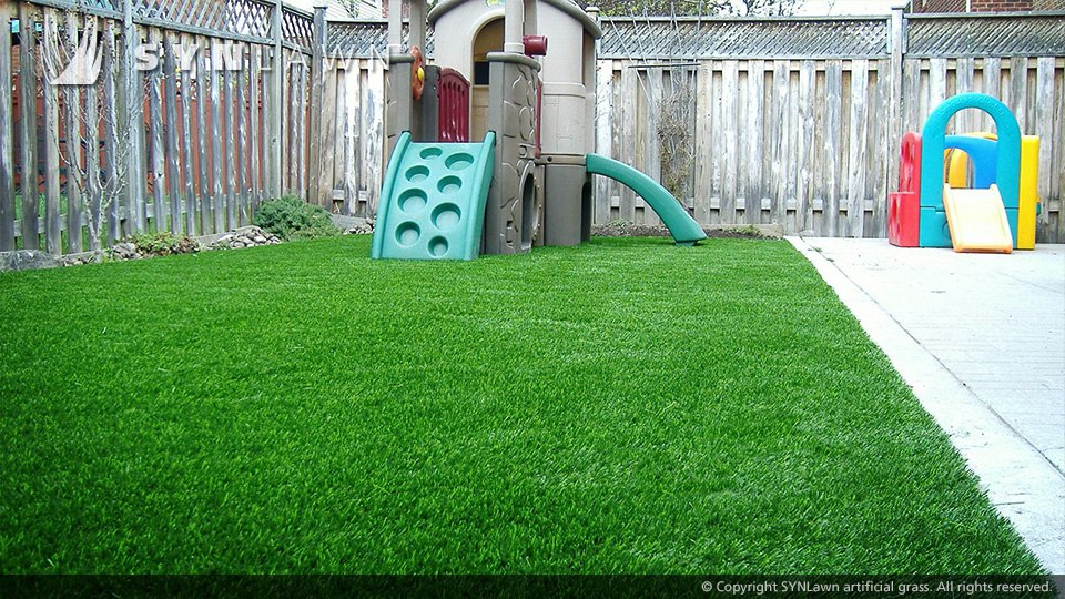 play area with artificial turf