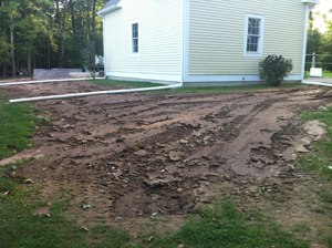 covered tracks to patio installation