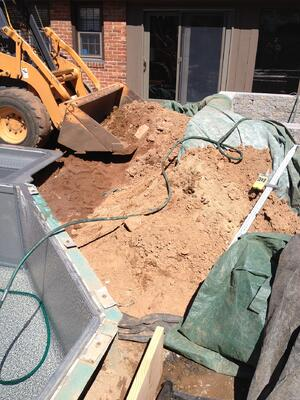 Patio Excavation by Bahler Brothers