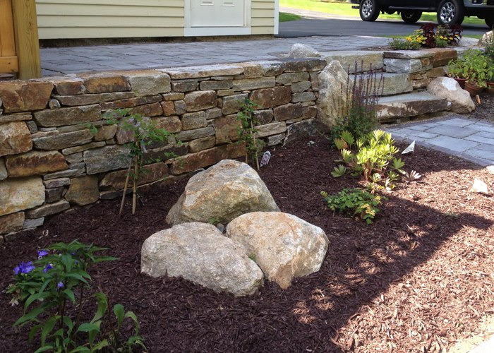 Natural Stone Wall in Connecticut by Bahler Brothers