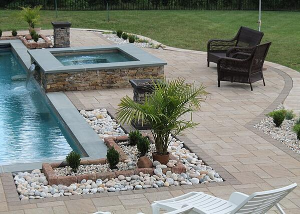 Backyard with patio and pool