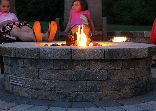 back yard firepit