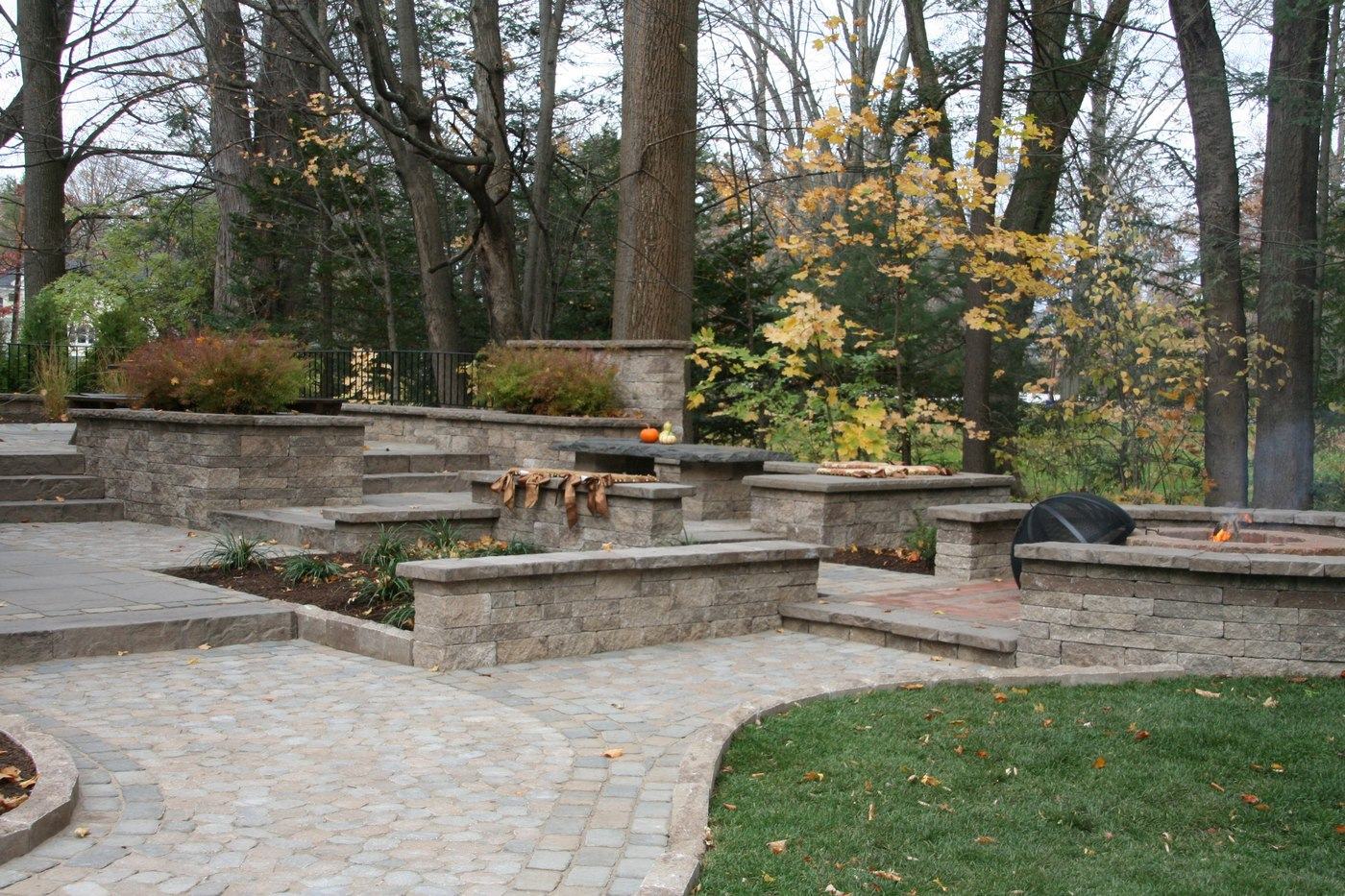 Interlocking Concrete Paver Patios