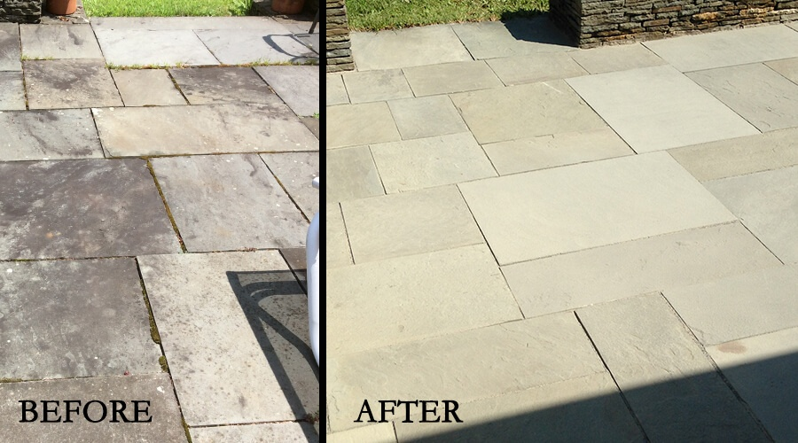 Before-After Bluestone Patio