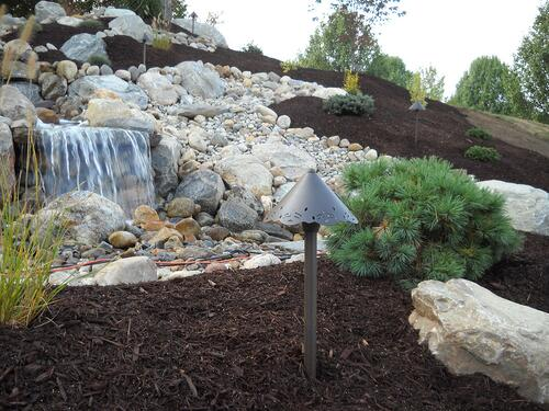 pondless water feature with large falls
