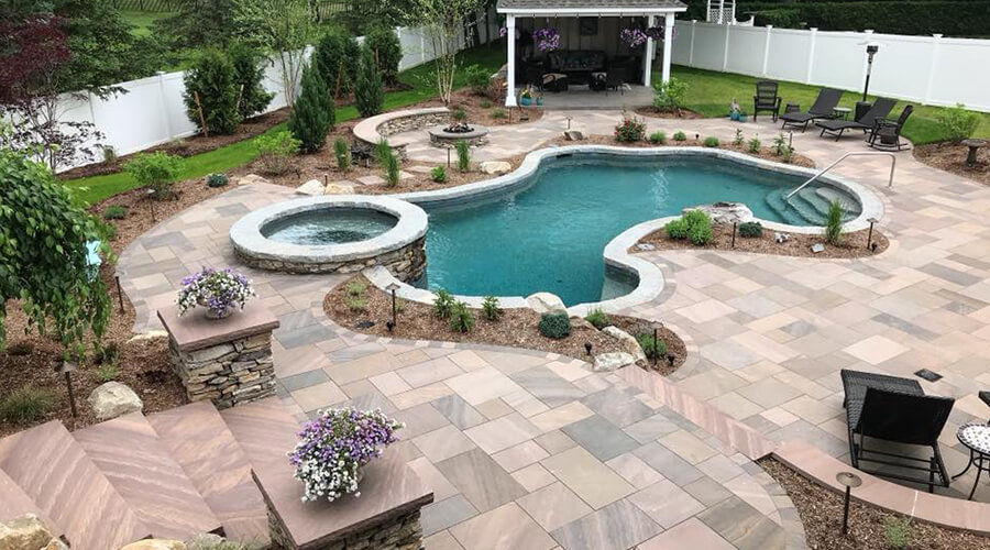 Natural Stone can be used for steps, walls and patios Bahler Brothers South Windsor, CT