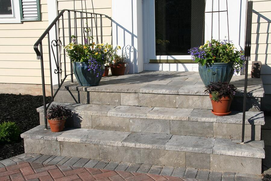 Concrete Step Overlay in Connecticut
