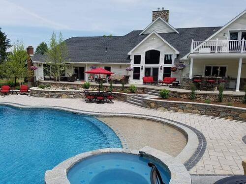 gunite-pool-with-sun-deck-and-spa
